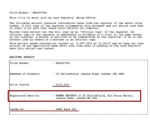 Голова Державної фіскальної служби Роман Насіров забув задекларувати ще одну квартиру в Лондоні